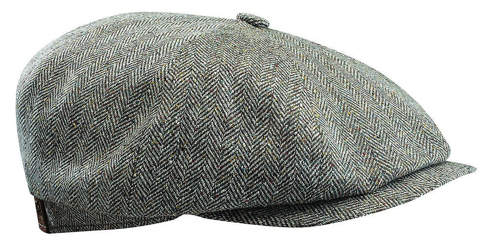 Stetson Men's Hatteras Hat Flat Cap Ivy Golf Wool Silk Linen - Olive