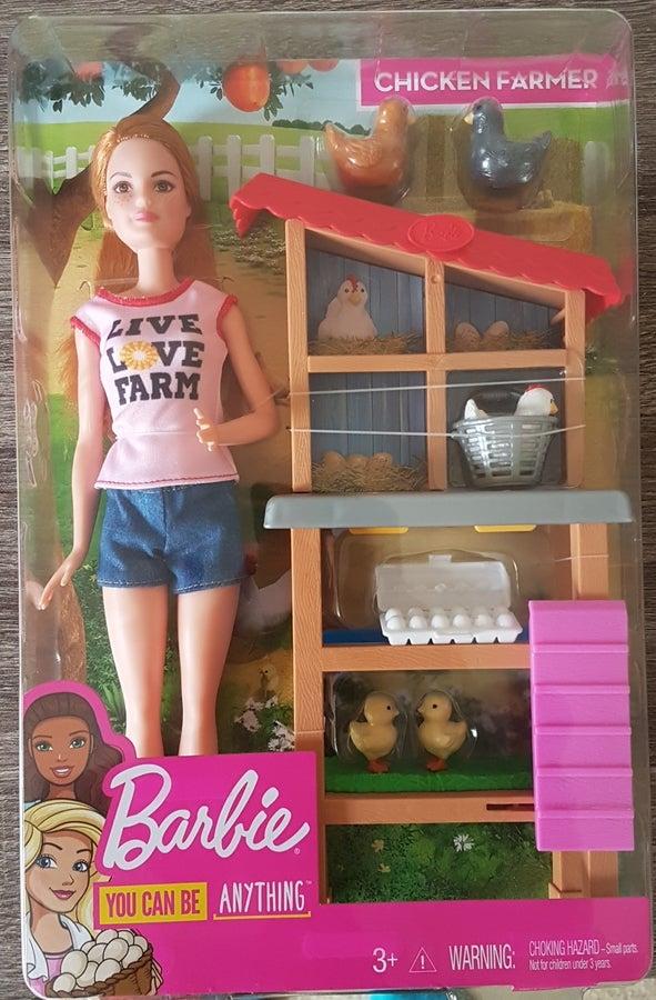 Barbie Career Chicken Farmer Doll & Playset