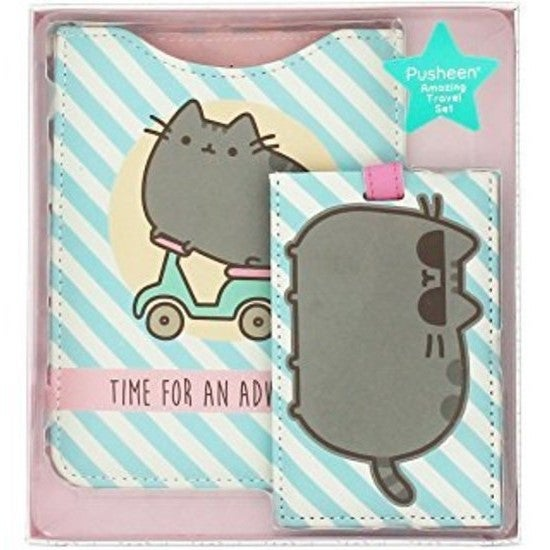 Pusheen The Cat Travel Set Passport Holder and Luggage Tag