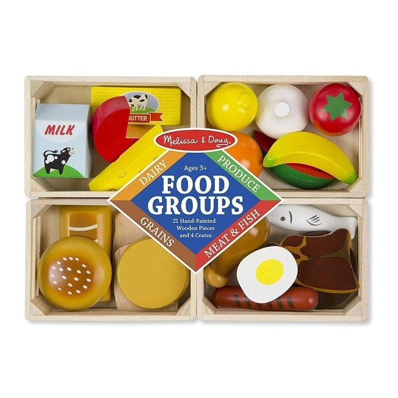 Melissa & Doug Wooden Food Groups Set Playset
