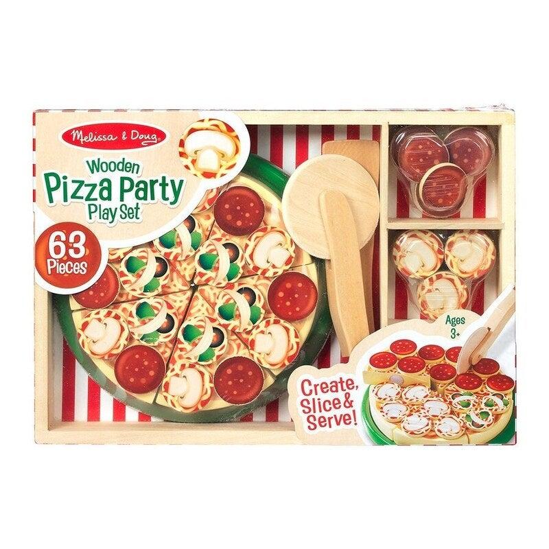 Melissa & Doug Wooden Pizza Party Playset