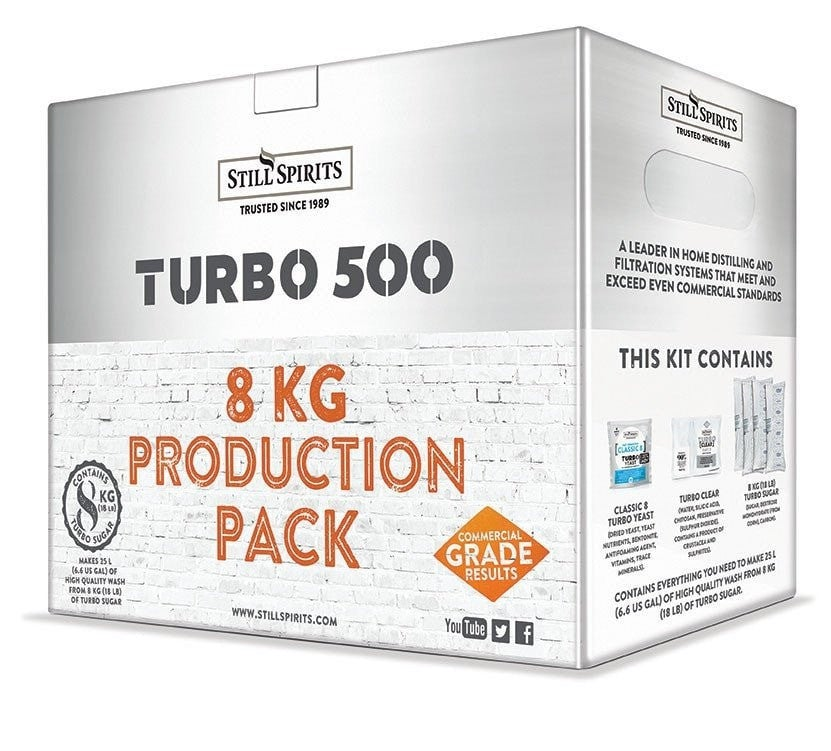 Still Spirits 1x Classic 8 Yeast (240g) Turbo Production Pack with 8kg Turbo Sugar (shipping early July)