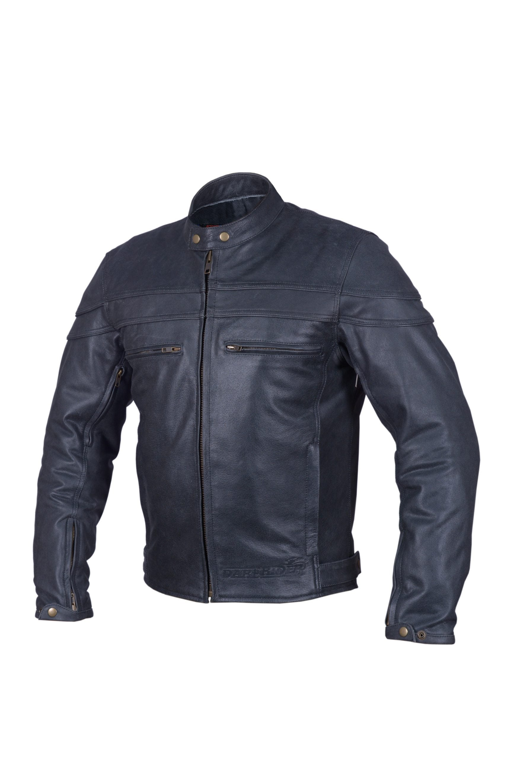 Dare Rider™ Cowhide Distressed Leather Mens Cafe Racer Jacket