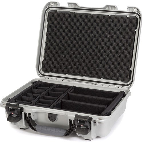 Nanuk 923 Case with Padded Divider (Silver)