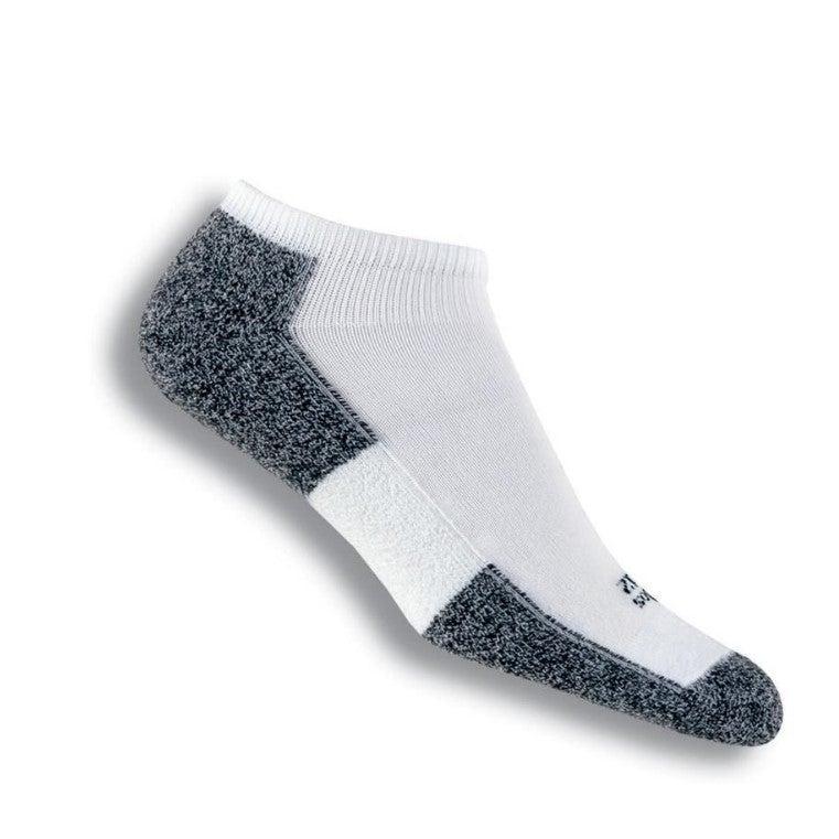 Thorlos Men's Running Micro Mini Lite Padded Socks White/Black