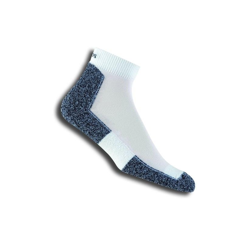 Thorlos Men's Running Mini Crew Ankle Socks Black & White Multiple Sizes