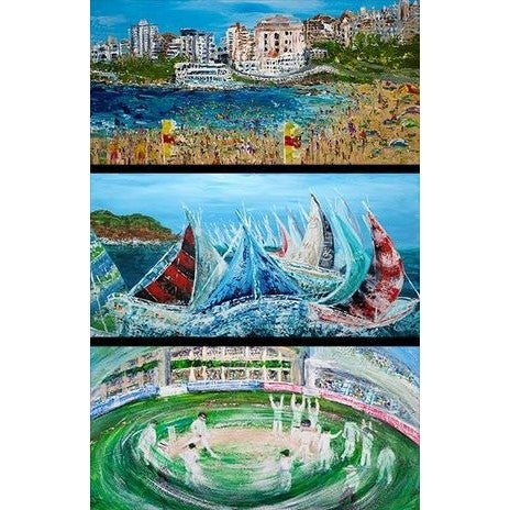 Celebrating Sydney (Day) Greeting Cards : Australian made greeting card pack of 3 different cards with envelopes