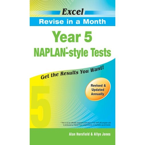 Excel NAPLAN-style Tests : Year 5 Excel Revise in a Month