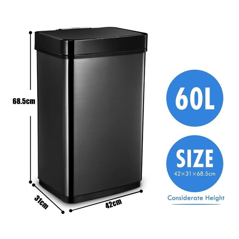 60l Sensor Bin Automatic Trash Can Touch Free Kitchen Garbage Bin Buy Kitchen Bins 2547115