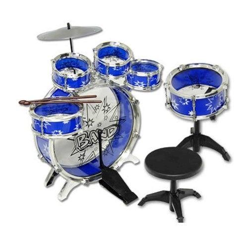 Jazz Drum Play Set 9Pcs for Kids Musical Instrument, Blue