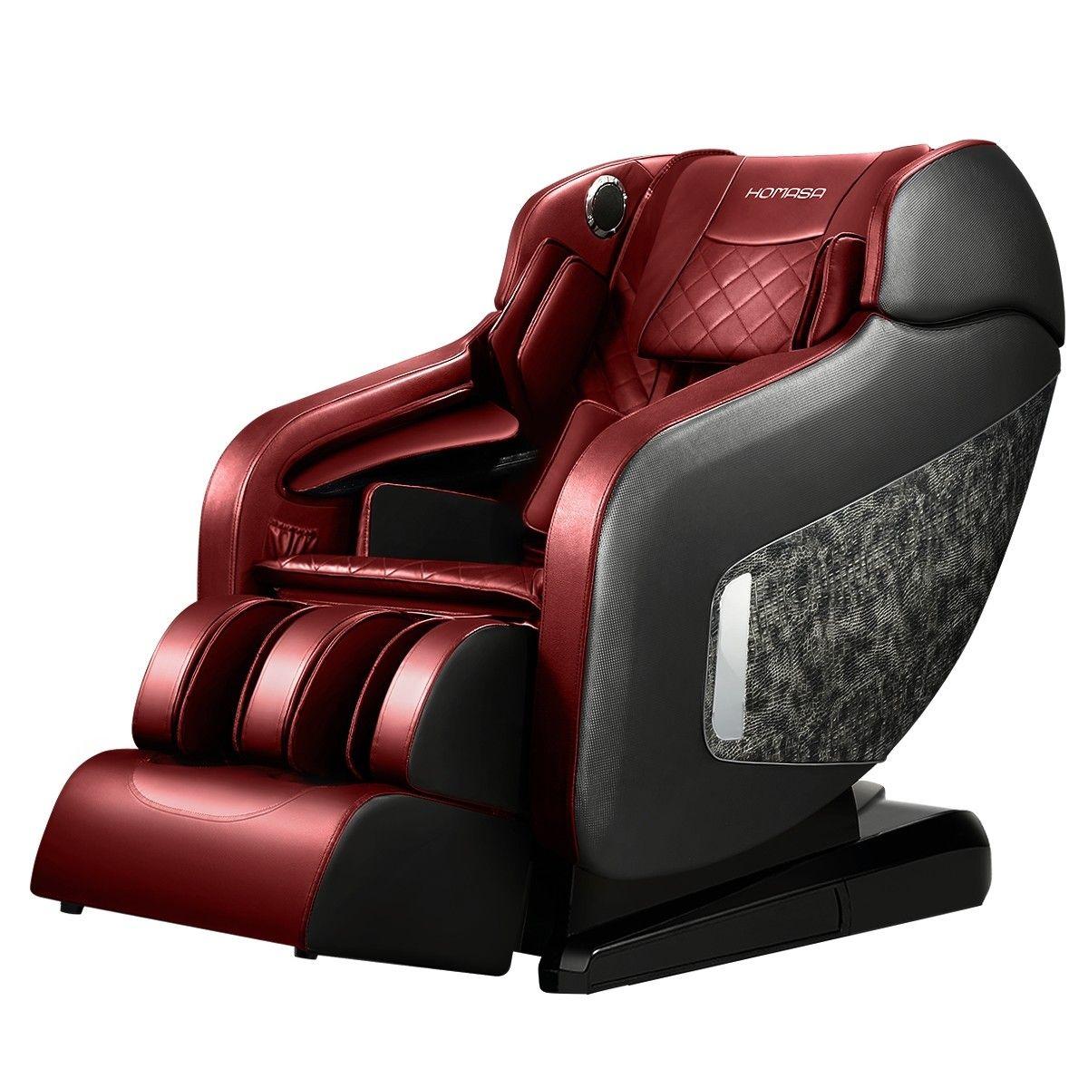 HOMASA 4D Electric Massage Recliner Chair Zero Gravity Massager Red