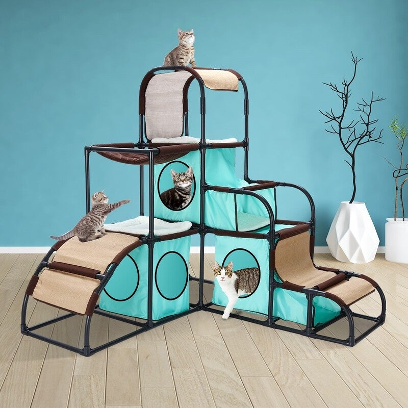 Petscene Cat Furniture Cat Tree Cat Climbing Tower Kit