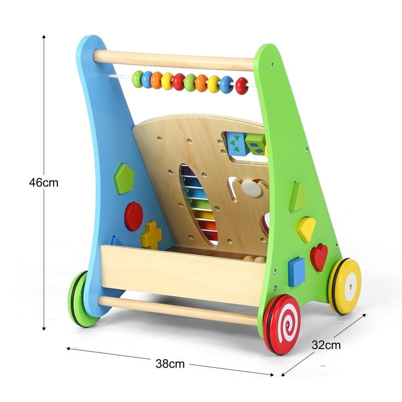 Wooden Baby Toddler Push Walker with Toys | Buy Baby ...
