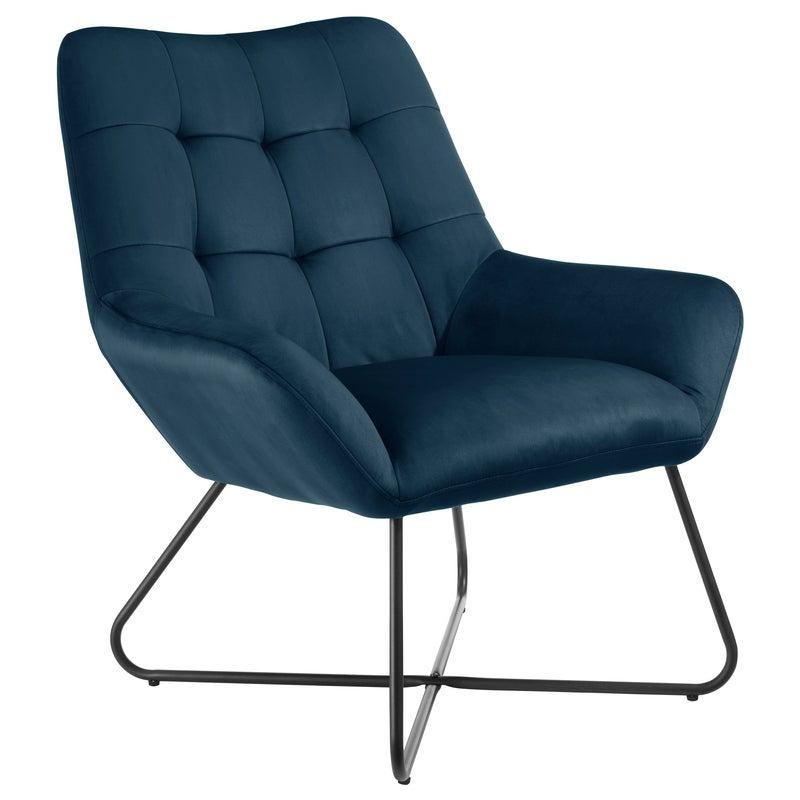 DukeLiving Easton Velvet Resting Armchair (Navy Blue)