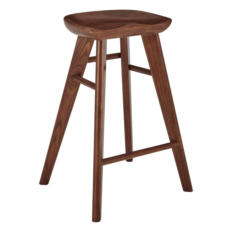 DukeLiving 65cm Saddle Tractor Kitchen Bar Stool (Walnut)