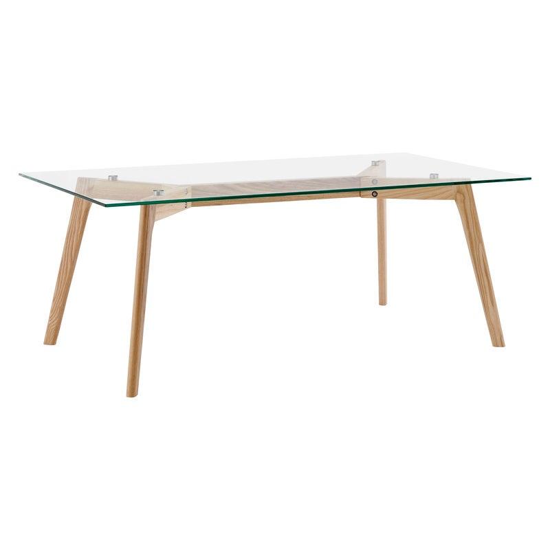 DukeLiving Hallie Rectangular Glass Coffee Table (Natural)
