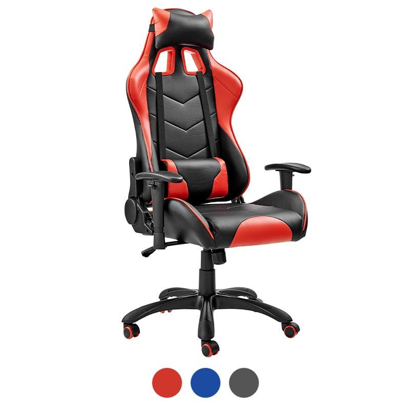 ErgoDuke Jedi Thunder Racing PU Leather Seat Gaming Office Chair (Red & Black, Blue & Black, Black)