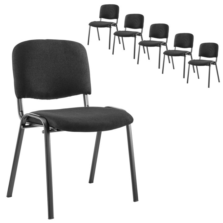 ErgoDuke Stackable Office Conference Visitor Chairs (Set of 6)