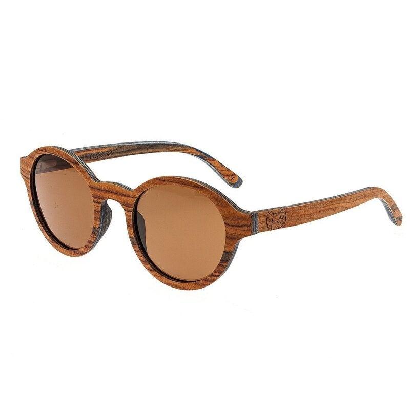 Earth Wood Maho Sunglasses w/Polarized Sunglasses - Sandlewood/Brown