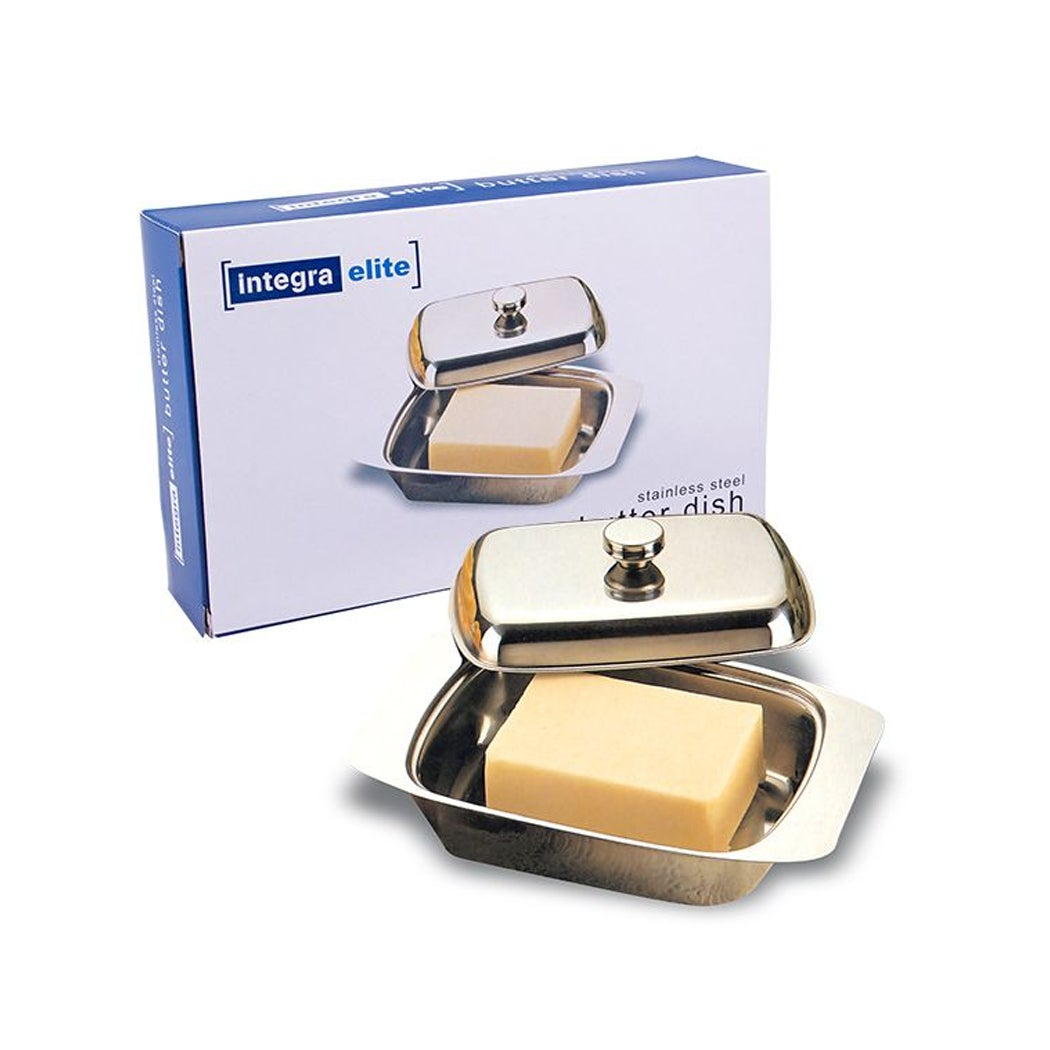 D.line Stainless Steel Butter Dish With Lid Margarine Plate Tray Storer Keeper