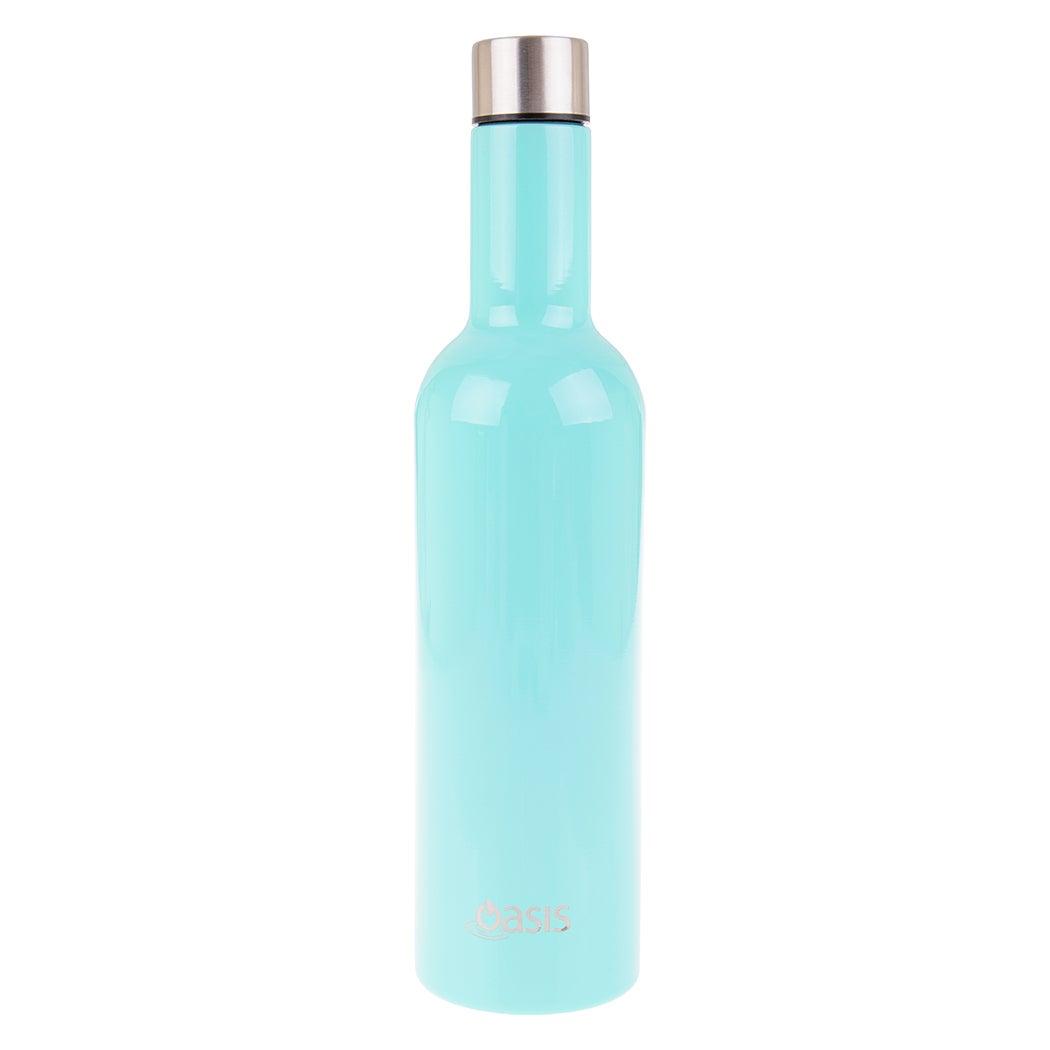 Oasis 750ml Stainless Steel Double Wall Insulated Wine Traveler Bottle Spearmint