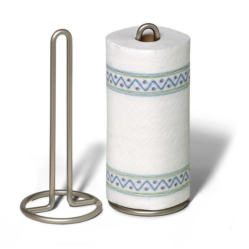 Spectrum Euro Paper Towel Holder Satin Nickel Kitchen Organiser Storage