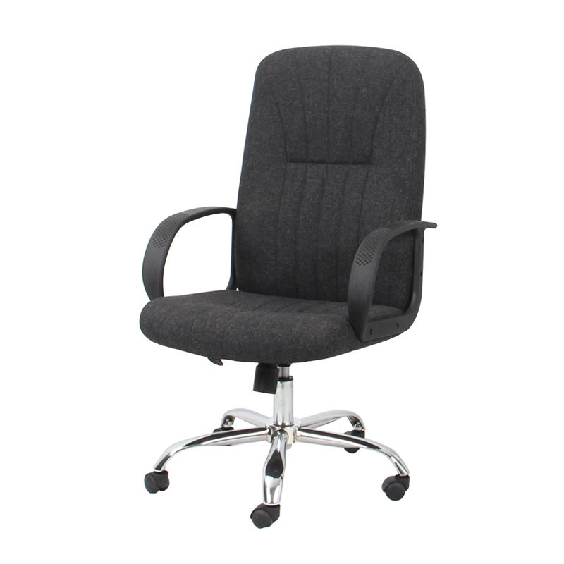 Fabric High-Back Office Chair in Black