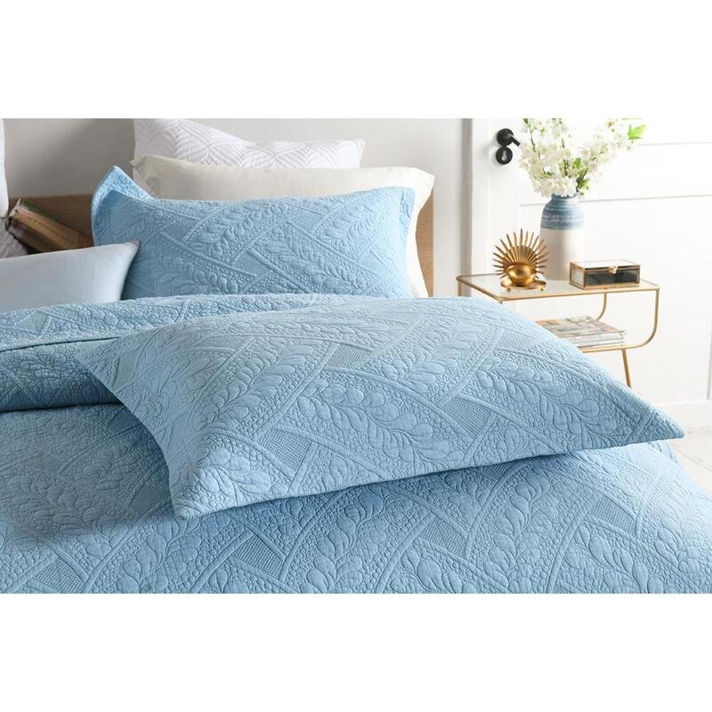 Luxury Quilted 100 Cotton Coverlet, What Size Is A Super King Bedspread