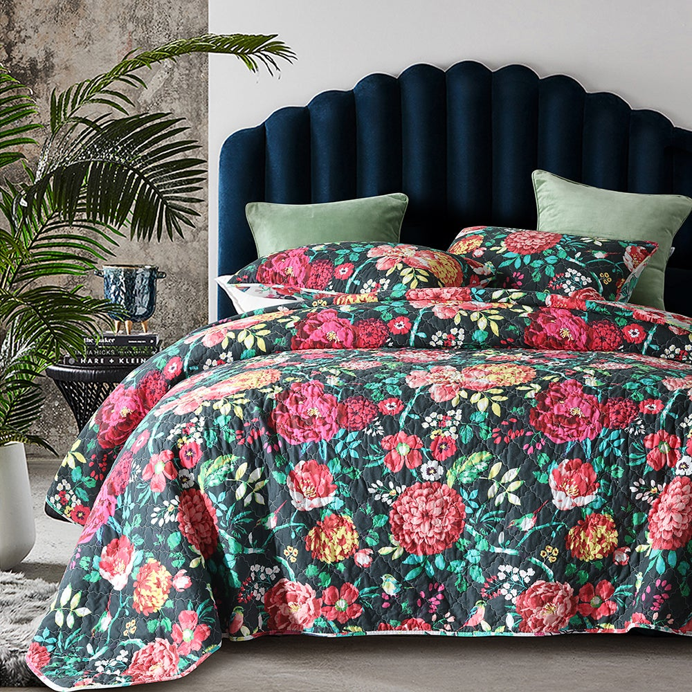 Luxury Quilted 100% Cotton Coverlet / Bedspread Set Queen / King Size Bed 230x250cm Blaney