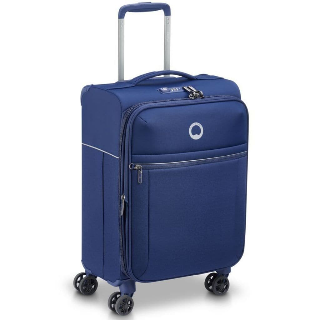 Delsey BROCHANT 2.0 55cm Carry On Softsided Luggage - Blue