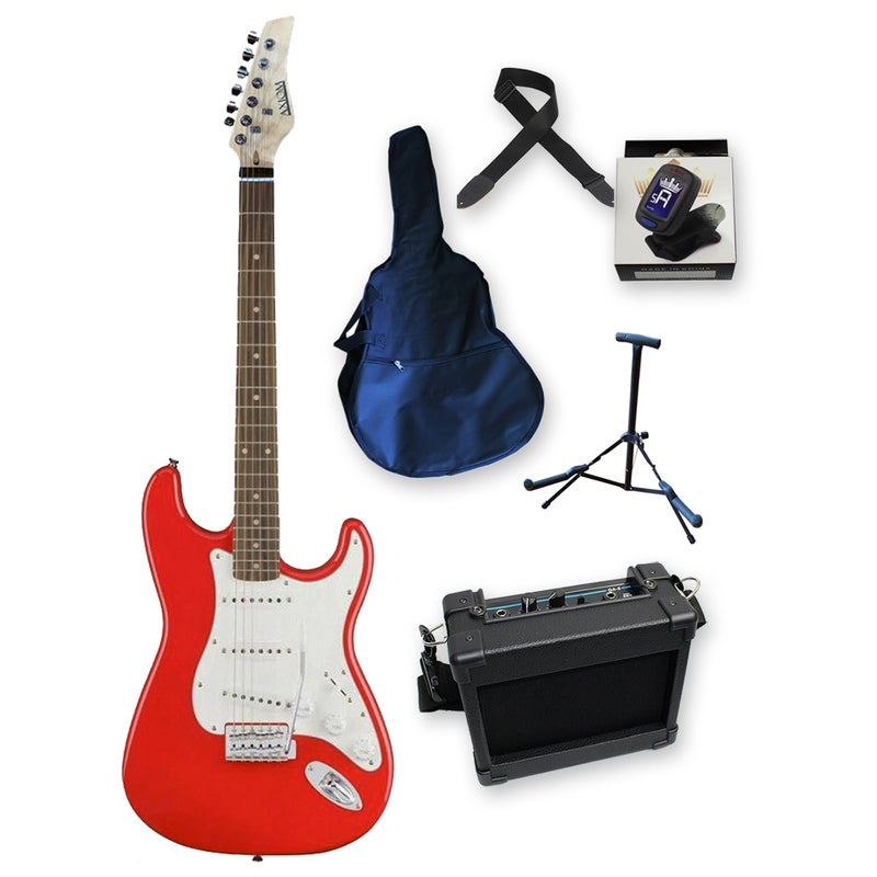 Discovery Beginner Electric Guitar Pack Red