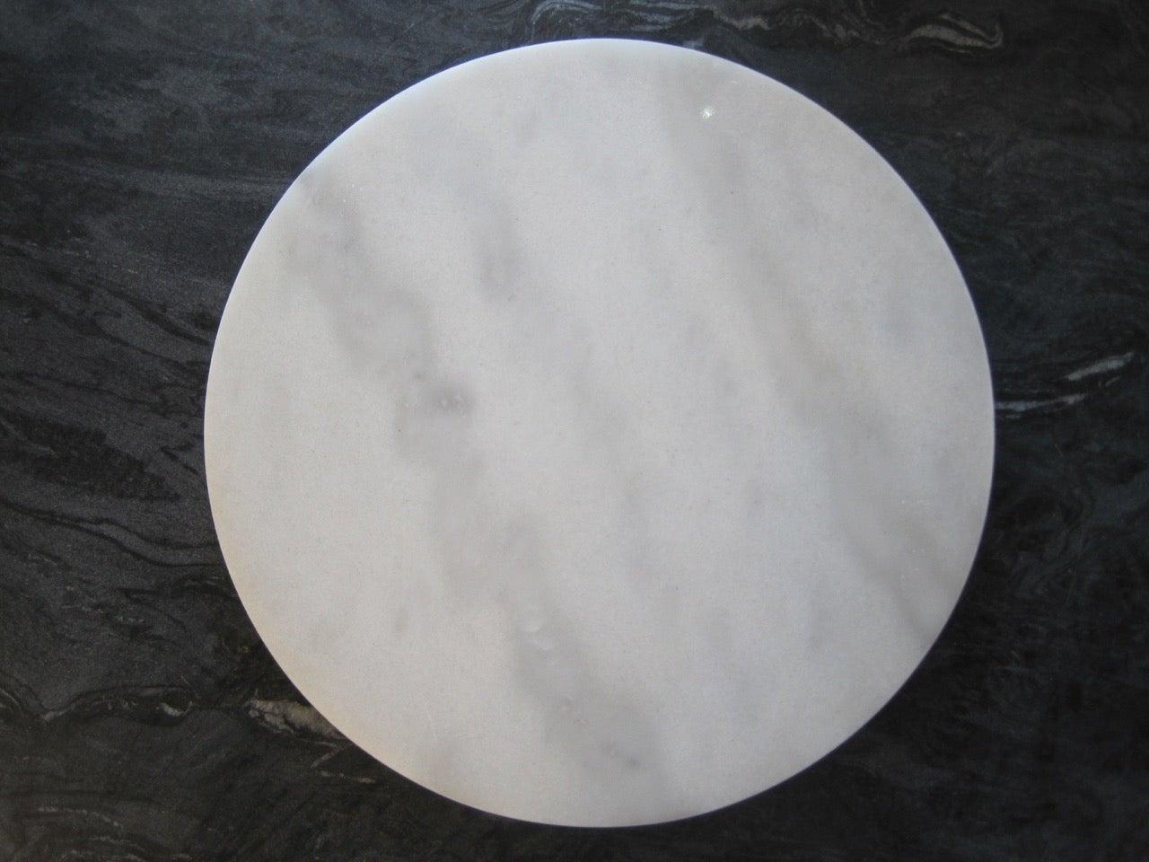 Round White Marble Cheeseboard