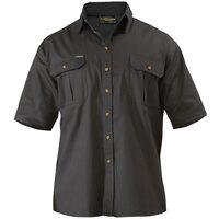 Bisley Original Cotton Drill Shirt - Short Sleeve - Black (BS1433)