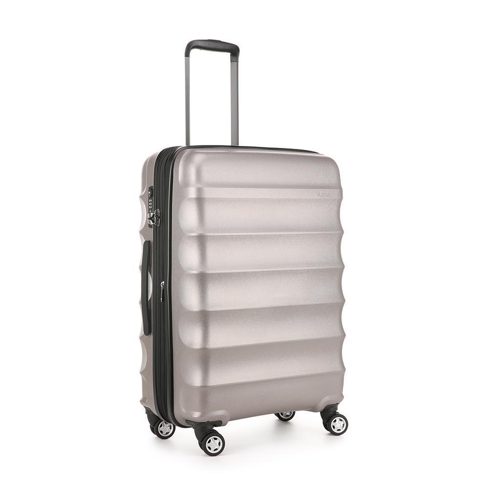 Antler Juno Metallic DLX Medium 80L Hard Suitcase 4W Roller Luggage Bronze