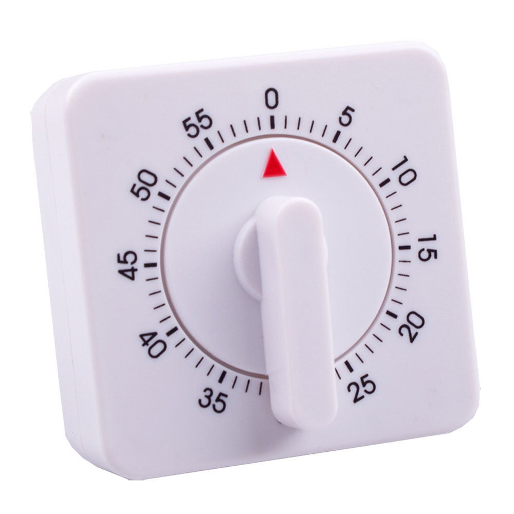 Appetito Analogue/Mechanical 60min Cooking/Food/Kitchen Timer/Magnetic/Standing
