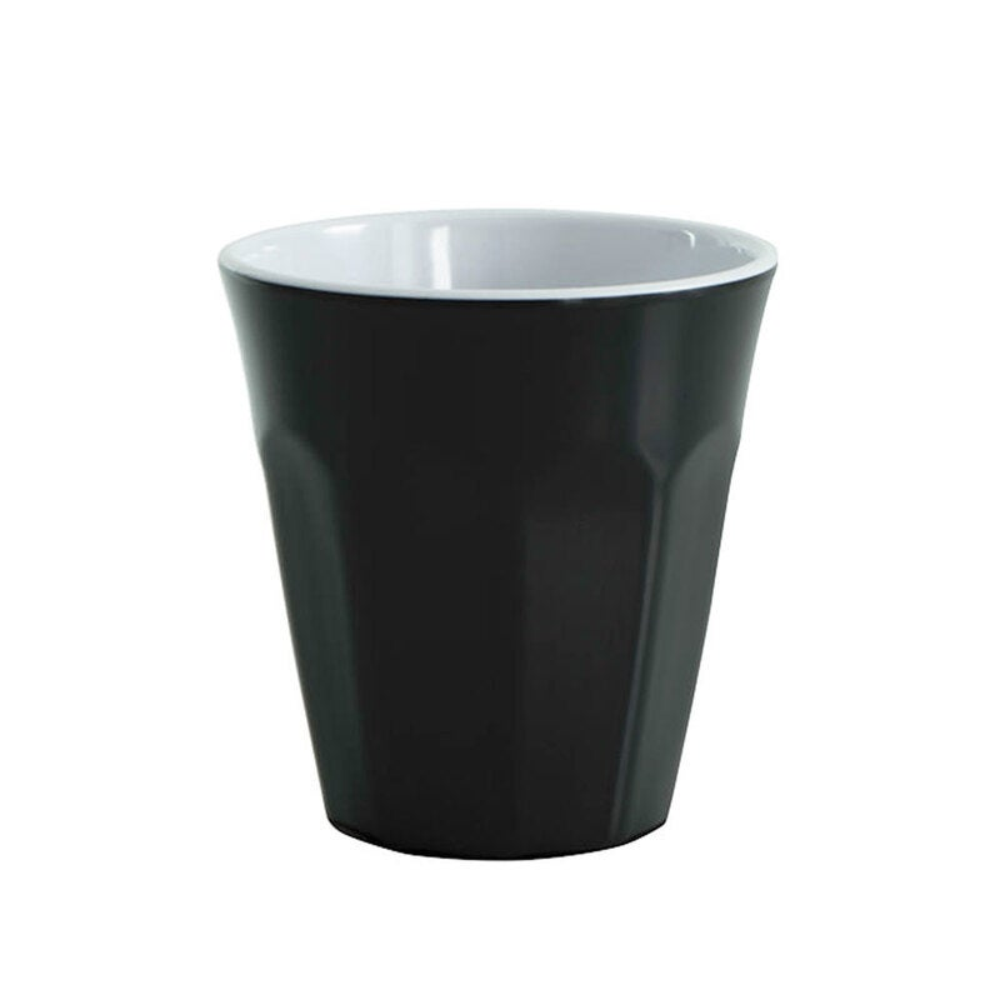 Avanti Cafe Melamine 2 Tone Cup Black 275ml Coffee Tea Drink Tumbler