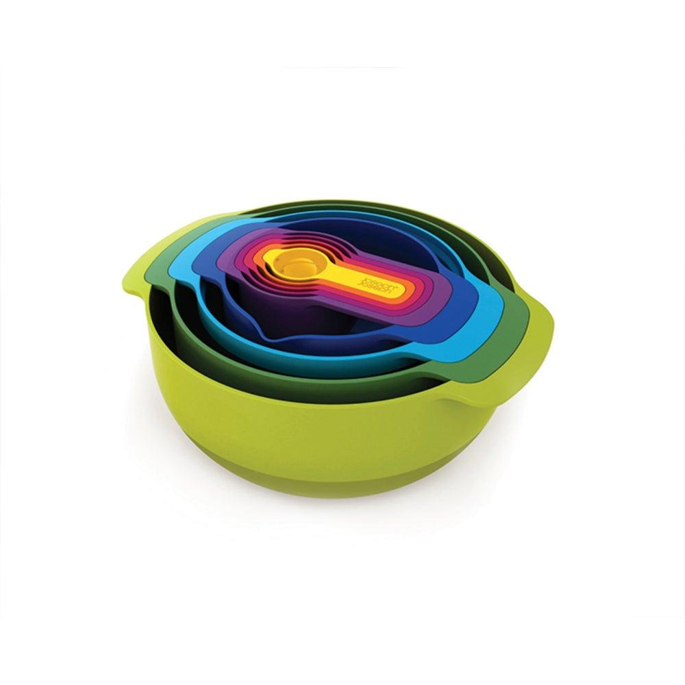Joseph Joseph Nest 9 Plus Food Prep Set Measuring Cup/Sieve/Mixing Bowl/Colander