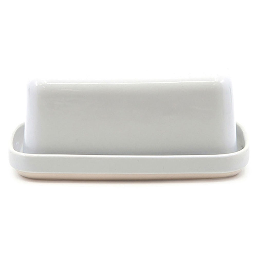 Salt & Pepper 17cm Beacon Stoneware Butter Dish/Container w/ Lid Tableware White