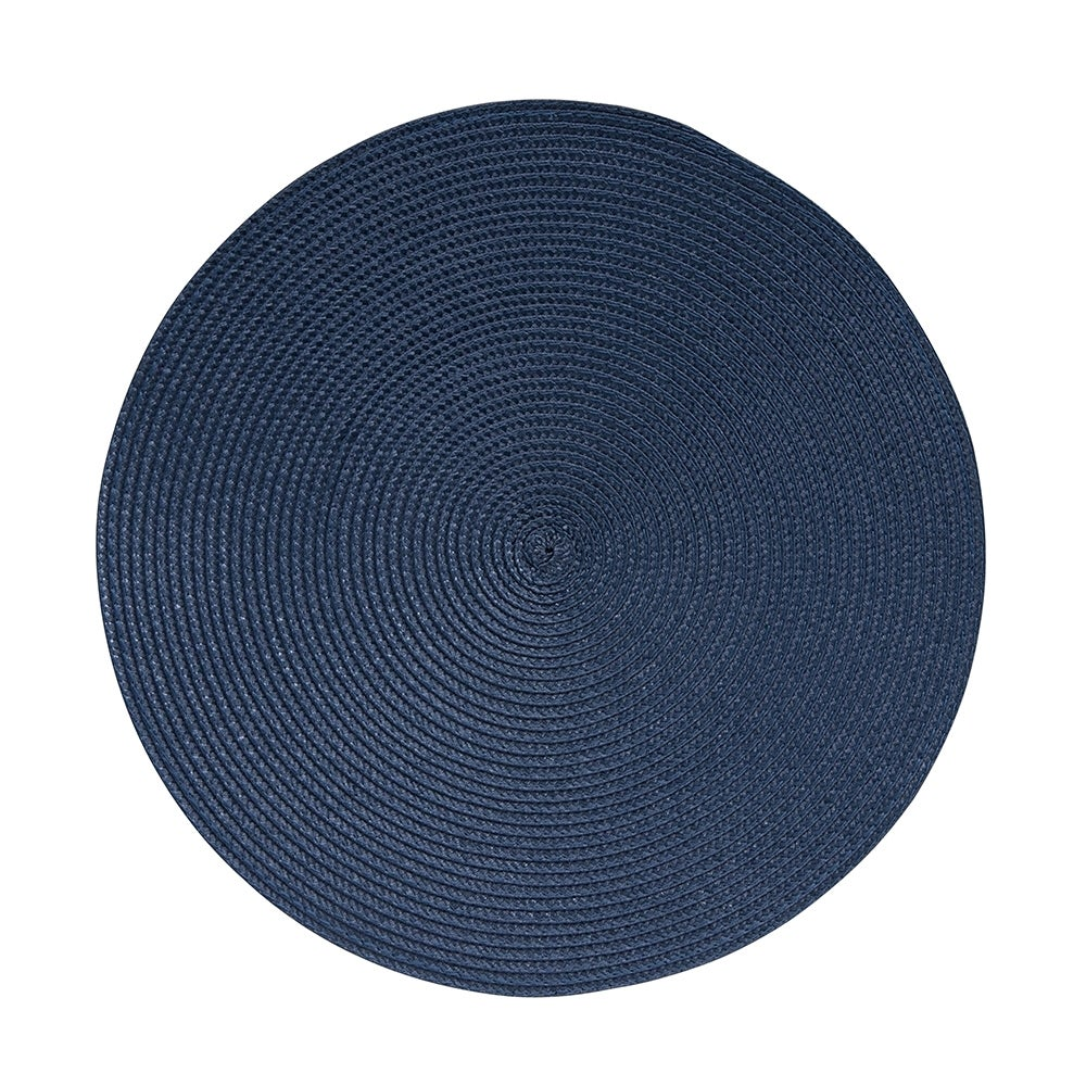 Salt & Pepper 38cm Paige Round Placemat Woven Dining Table Mat/Pad Dusty Blue