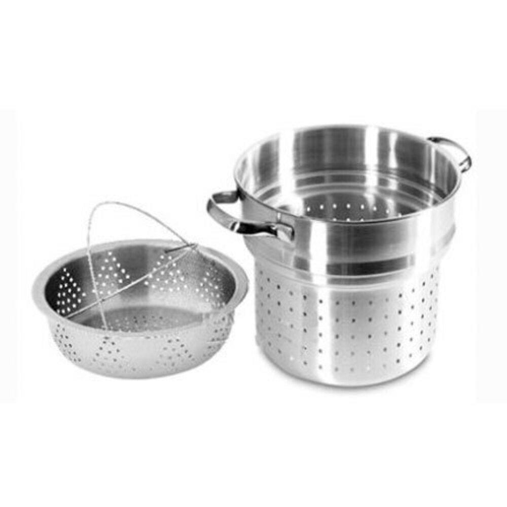 Scanpan 24cm Stainless Steel Classic Steam Pasta Insert & Steamer Basket/Pot Set