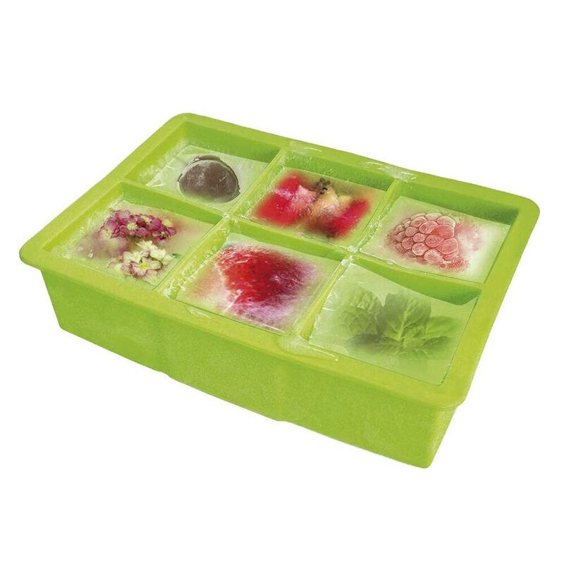 Vin Bouquet Silicone Ice Cube Tray Mold Square DIY Mould Maker Party Drinks GRN