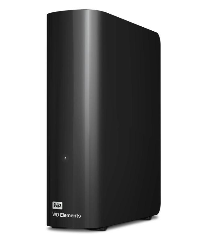 "Western Digital WD Elements Desktop 12TB USB 3.0 3.5"" External Hard Drive - Black Plug Play Formatted NTFS for Windows 10/8.1/7 WDBBKG0120HBK-AESN"