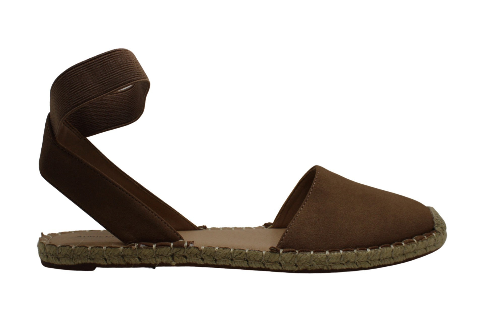 Adrienne Vittadini Women's Shoes Alvin NuBuck Closed Toe Casual Ankle Strap Sandals US