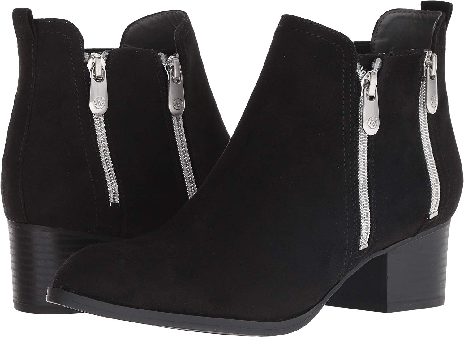 Adrienne Vittadini Womens Ravi Ankle Boots Leather Pointed Toe Ankle Fashion Boots US