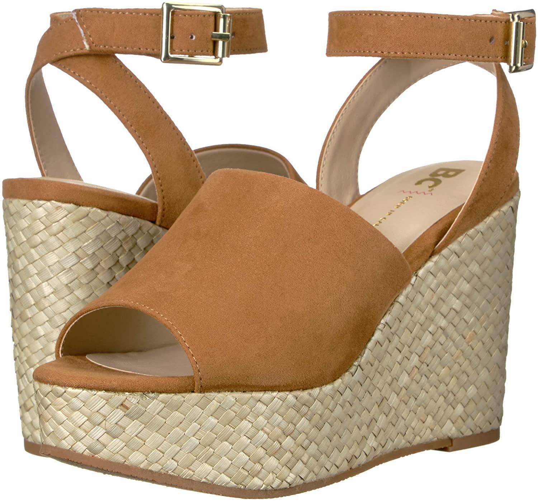 BC Footwear Women's Wild Orchids Espadrille Wedge Sandal US