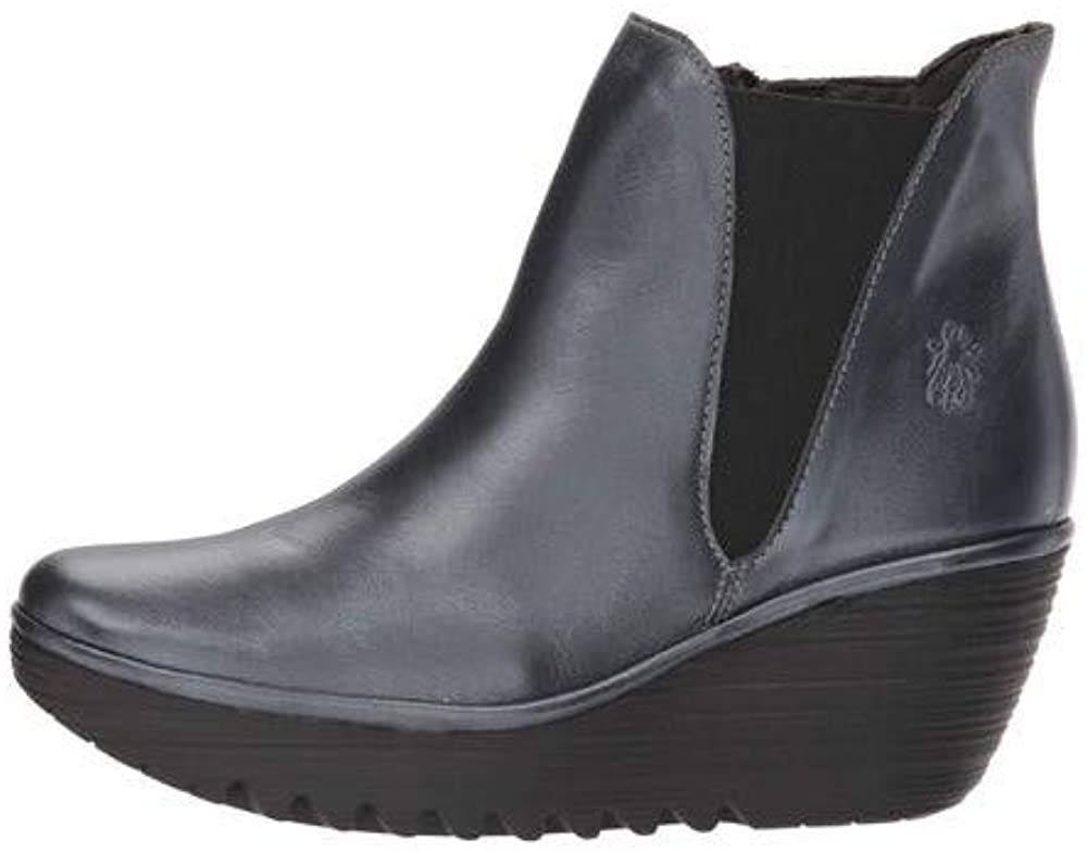 Fly Loundon Womens Yozo Leather Round Toe Ankle Chelsea Boots US