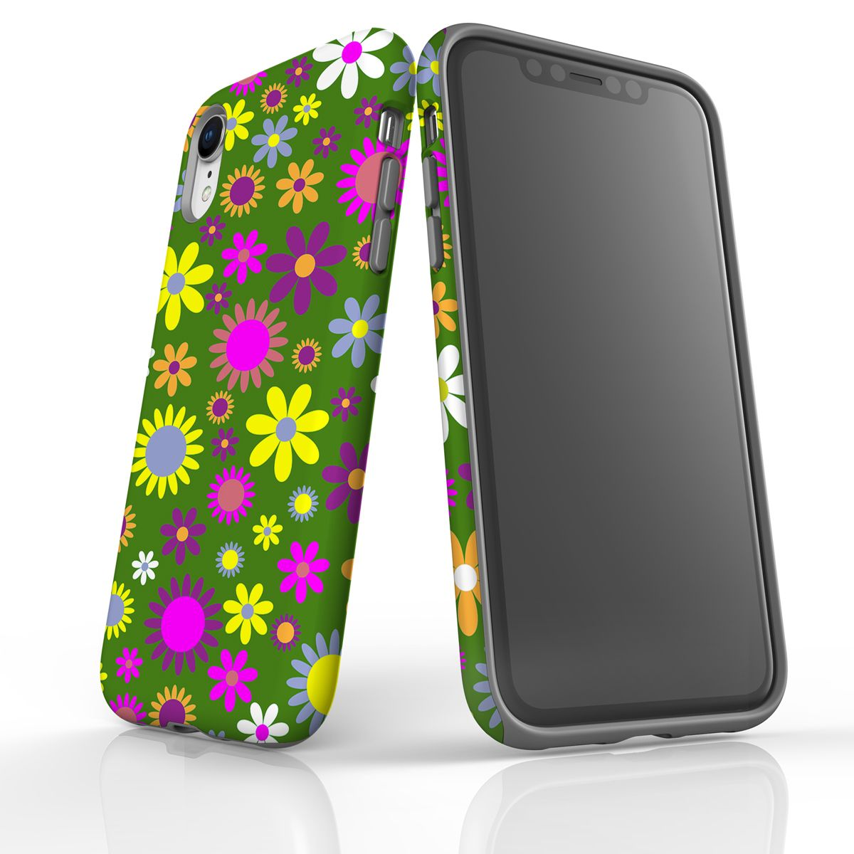 For iPhone XR Case, Armour Tough Shockproof Light Slim Phone Cover, Flowers