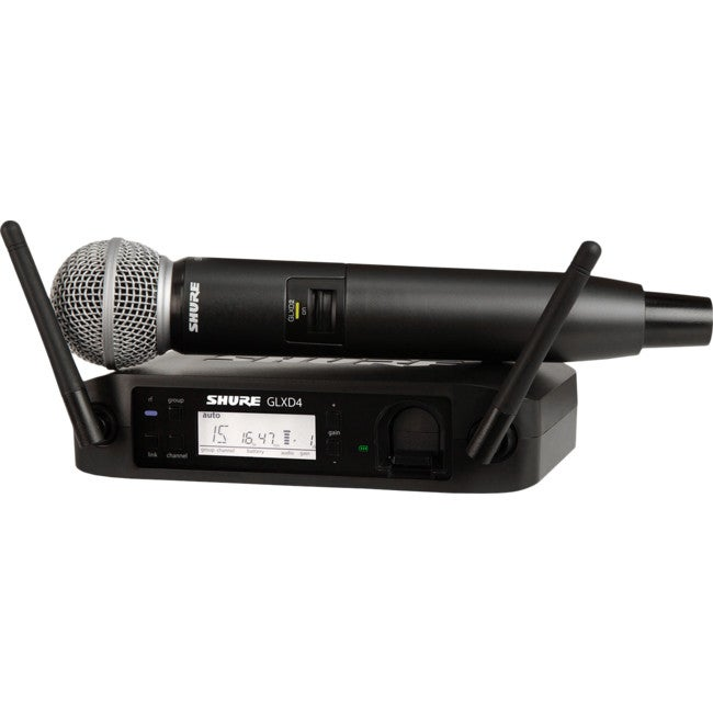 GLXD24SM58 SHURE Handheld Wireless System With Sm58 Microphone Transmitter Sm58 Insert HANDHELD