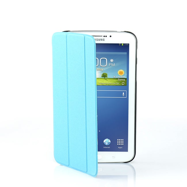 """T3-7CASBL MBEAT Galaxy Tab3 7"""" Slim Case Blue Tri-Fold Mbeat Stand Your Tab3 In Landscape Mode For"""