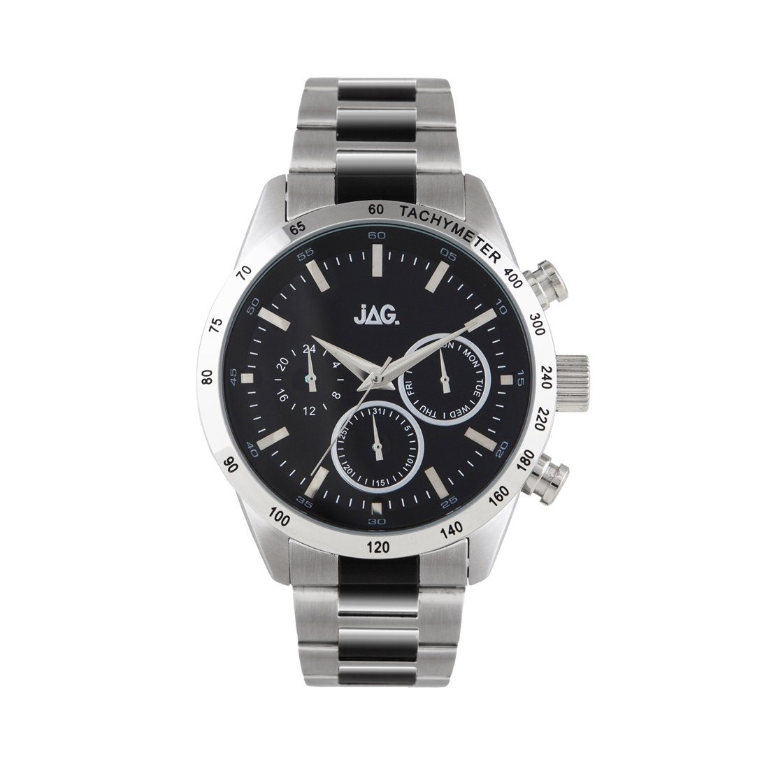 Jag Chronograph Mens Watch Model J2164A Stainless Steel Chronograph-Tachymeter 9325452001810 Silver